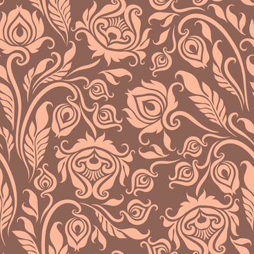 gentle floral seamless pattern wallpapers vector