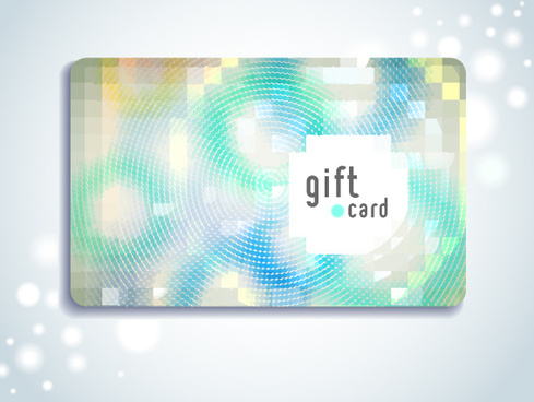 gentle gift cards design vector set