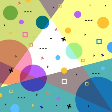 geometric abstract background colorful flat design