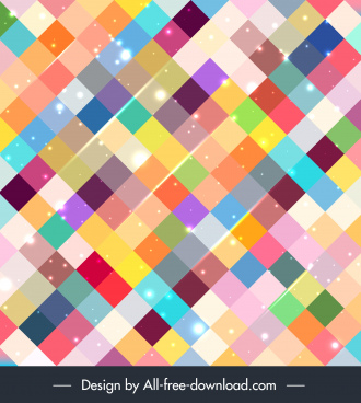 geometric abstract background colorful sparkling checkered decor