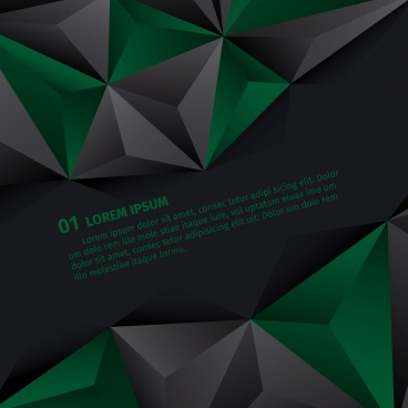 geometric abstract background green grey polygonal ornament