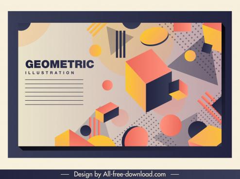 geometric background 3d dynamic design