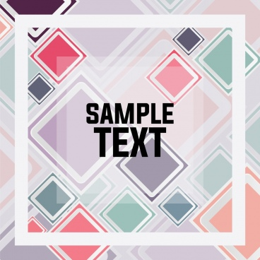 geometric background colorful flat squares decoration