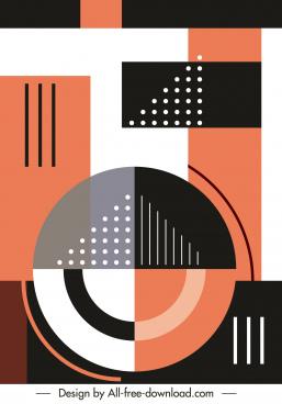 geometric background flat circles triangles decor