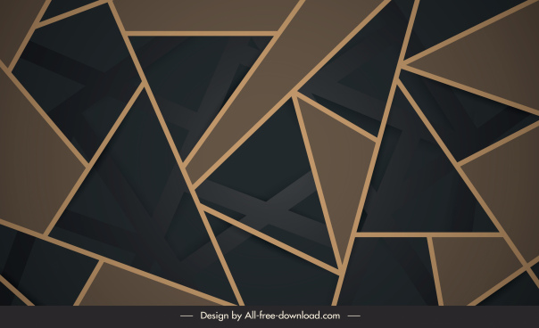 geometric background modern abstract flat triangle decor