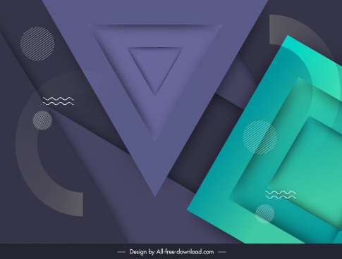 geometric background modern colored flat sketch