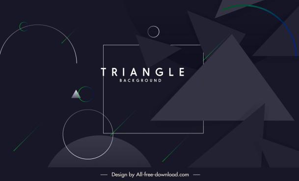 geometric background modern dark design triangle circles decor