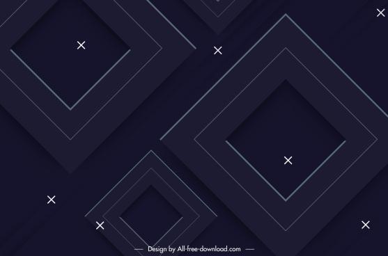 geometric background modern dark squares sketch