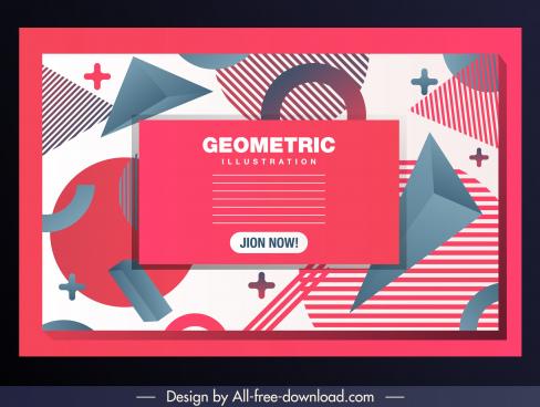 geometric background modern messy flat 3d decor