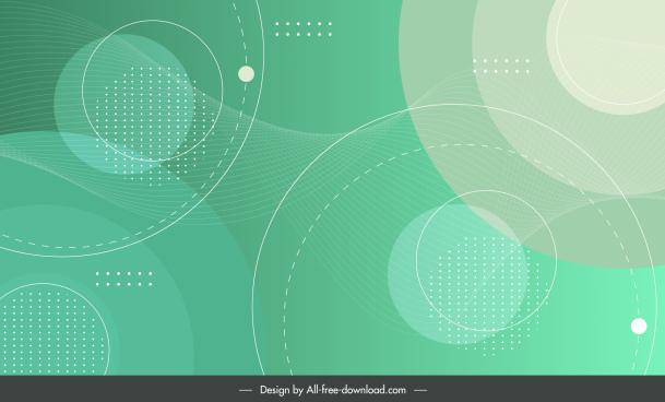 geometric background template bright flat circles decor
