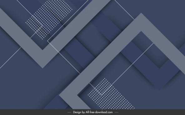geometric background template elegant dark flat decor