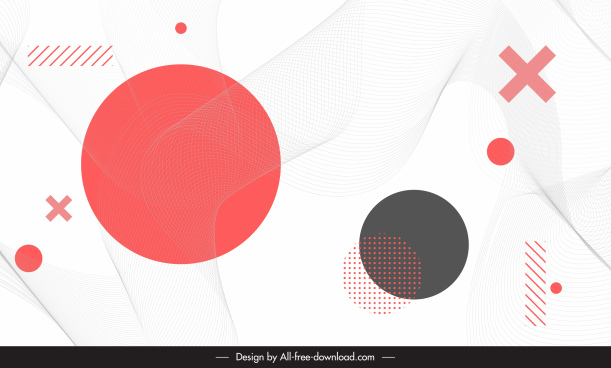 geometric background template modern flat design