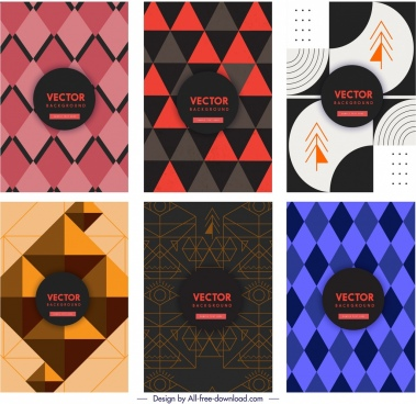 geometric background templates colored dark abstract design