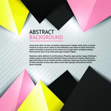 geometric colored triangle vector background