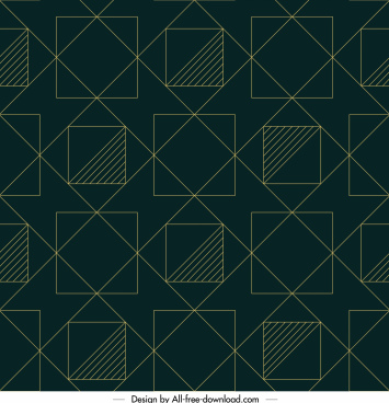 geometric pattern flat squares lines layout symmetric design