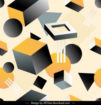 geometric pattern modern 3d dynamic decor