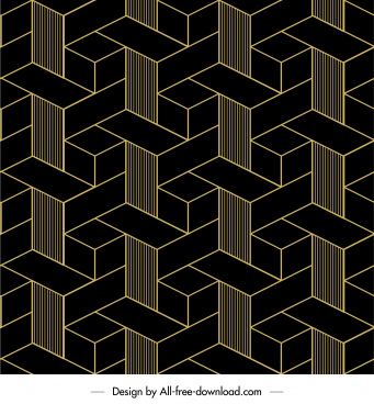 geometric pattern template dark illusion symmetric decor