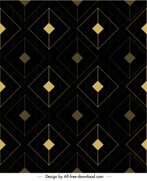geometric pattern template elegant dark flat repeating symmetry