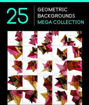 geometric shape abstract backgrounds vectors