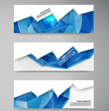 geometric shapes abstract banners graphic vector