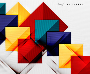 geometric shapes background business vector