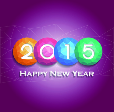 geometric shapes ball15 new year background art