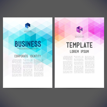 geometric shapes business cover templates graphics