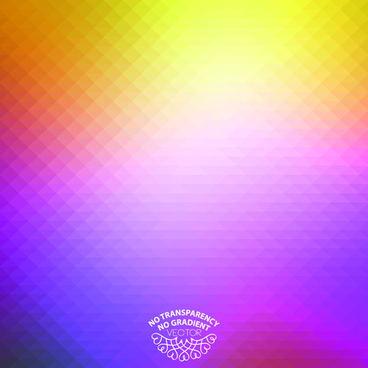 geometric shapes colored blurred background vector