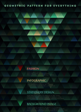 geometric shapes dark backgrounds vector