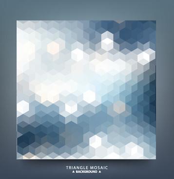 geometric shapes mosaic background vector set