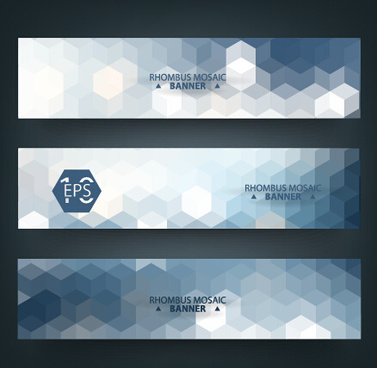 geometric shapes mosaic vector banners