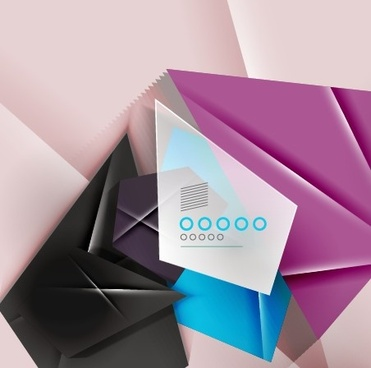 geometric shapes origami background vector