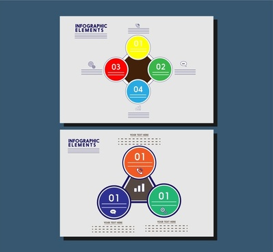 geometric style infographic design sets