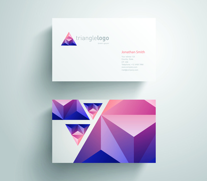 geometric triangle business cards copy space vector