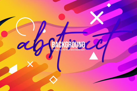 geometrical abstract background template colorful flat decor