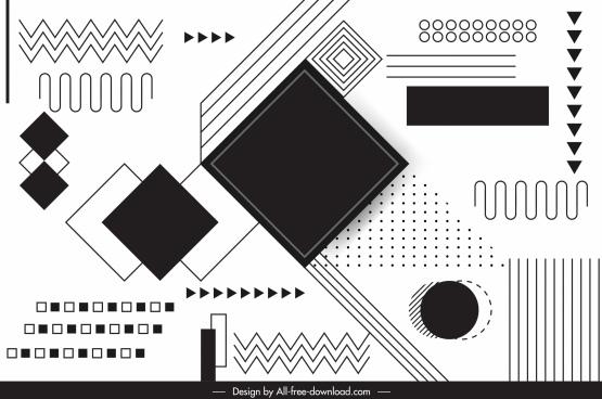geometry background black white flat design