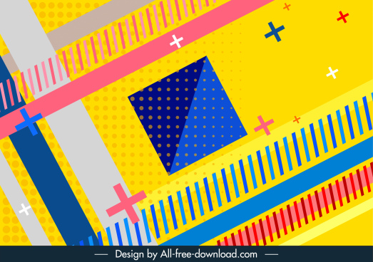 geometry background template colorful flat design