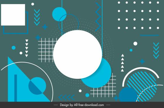geometry background template dark flat design
