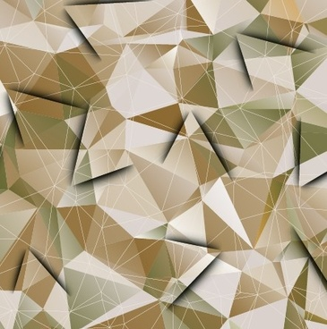 geometry shapes 3d background vector set