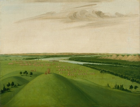 george catlin painting oil on canvas