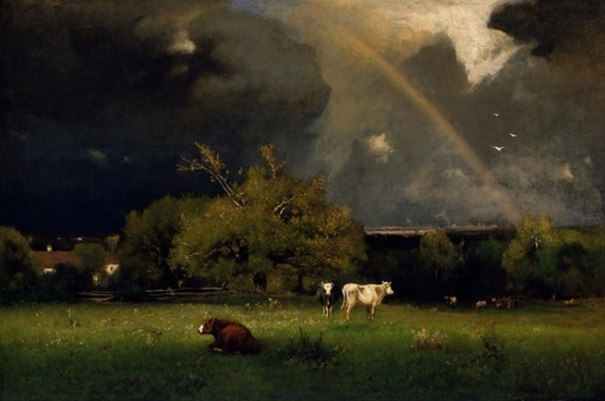 george inness painting oil on canvas