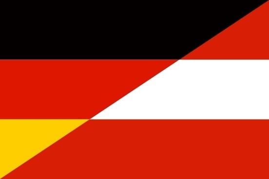 German Austrian Flag Hybrid clip art