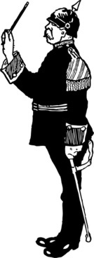 German Military Band Conductor clip art