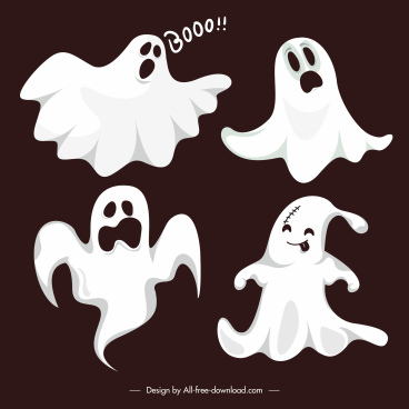 ghost icons funny dynamic gestures sketch