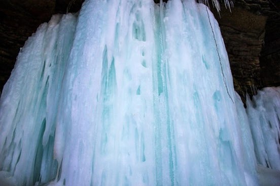 giant ice column at wequiock falls wisconsin free stock photo