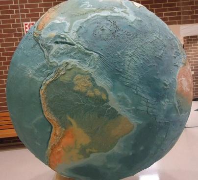 giant spinning globe