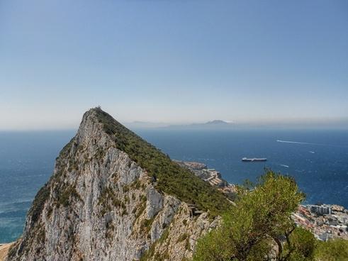 gibraltar mountain landscape