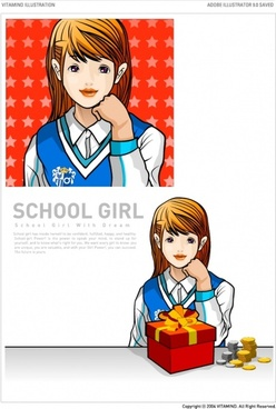 gift and female students vector