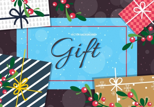 gift background colorful flat bokeh decor