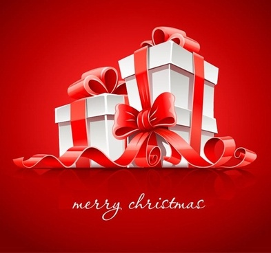 gift boxes for christmas vector graphic